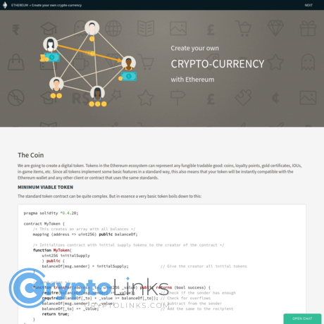 Create a cryptocurrency ethereum