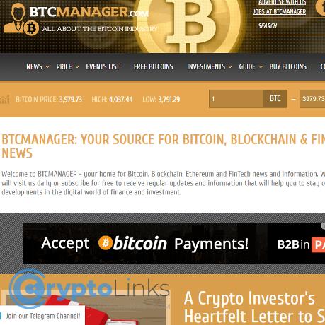 Btcmanager Btcmanager Com Crypto News Sites