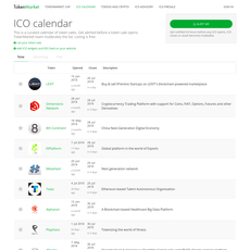 cryptocurrency exchange listing calendar
