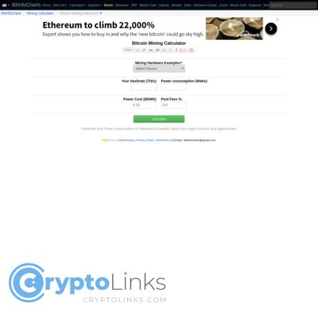 Bitcoin Mining Calculator Mining Know how