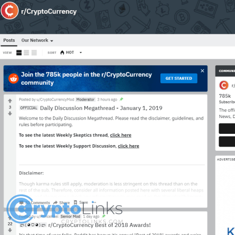 Reddit cryptocurrency news sites