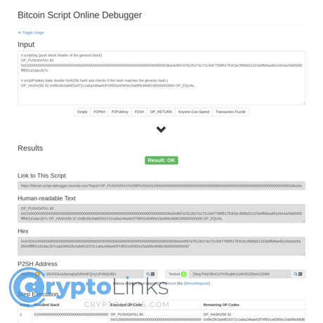 Bitcoin Script Online Debugger - Bitcoin-script-debugger