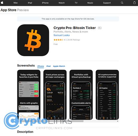 best cryptocurrency app iphone price