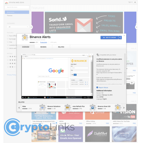 cryptocurrency price chrome extension